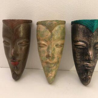 Væg urtepotte 'maske' i flere design og farver